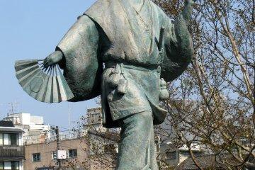 Monument to Izumo Okuni - the founder of Kabuki theatre