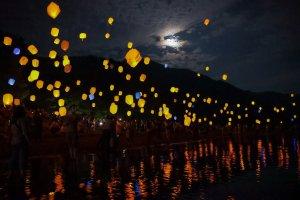 Around 2000 LED lanterns will illuminate the night sky