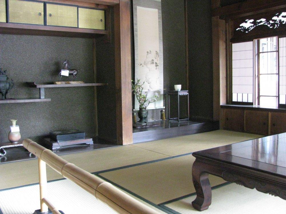 The interior of a minka home