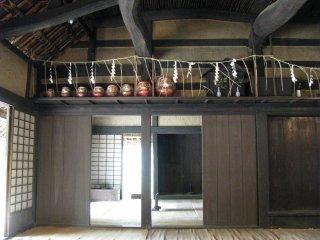 Kamidana in a minka dwelling
