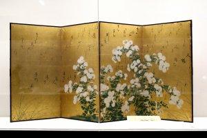 Four-paneled byobu in Sendai City Museum