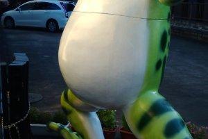 Styrofoam frog