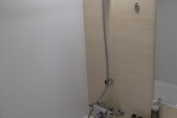My shower (unused as I went to the public bath)