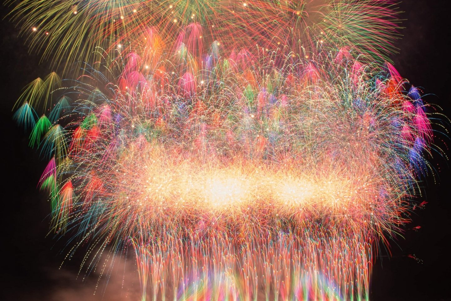 Some of the fireworks from last year\'s event
