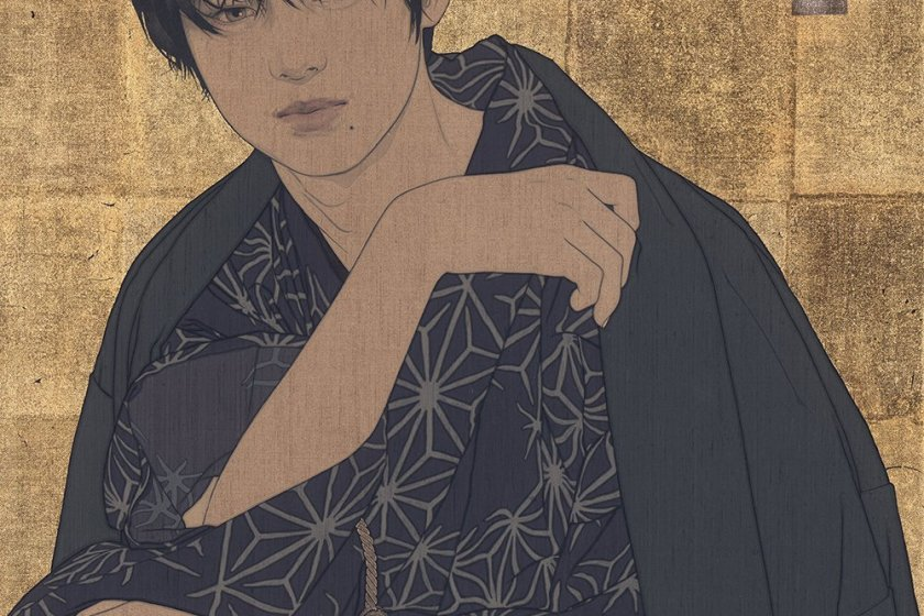 The epitome of traditional meets modern? Instagram influencer Sho is depicted in bijin-ga style in various works at this exhibiton