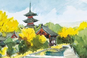 This event will focus on watercolor depictions of destinations and scenery around Kyoto