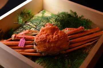 Seafood and beef feature prominently here, thanks to the ryokan's location between mountains and sea