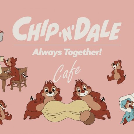 Chip and Dale Always Together Cafe