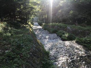 Река Усибусэ в летний день