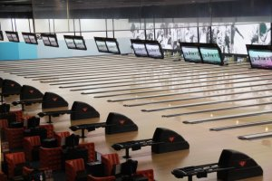 Round 1 has a bowling alley with more lanes than I have seen anywhere else on Okinawa