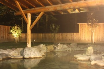 Splash into this open air bath and see the stars at night