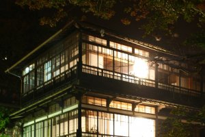 Sekizenkan's Main building is nothing short of dazzling at night. Feel free to take a stroll while wearing the yukata the ryokan will provide