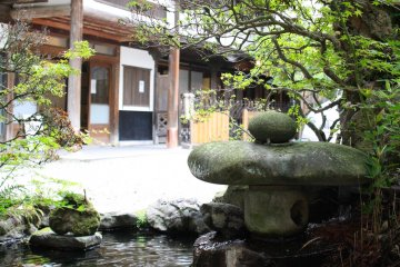 Walk into Sekizenkan's welcoming front entrance