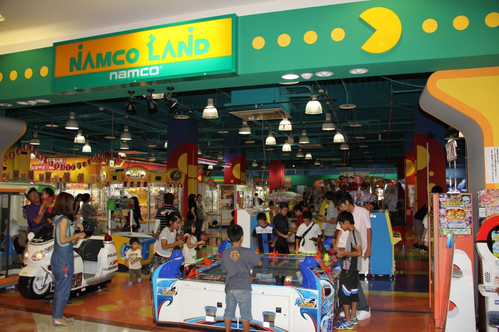 Namco Land in the Ryukyu Aeon Gushikawa Shopping Center in on the extreme northern end of the second floor