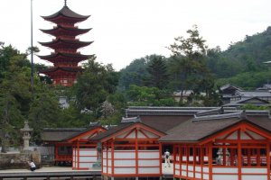 Senjokaku Pagoda and Itsukushima shrine