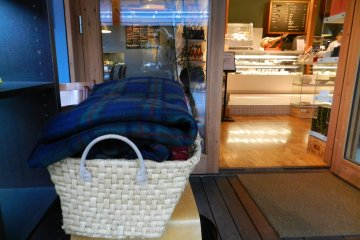 Cafe and Books offer blankets for cold days.