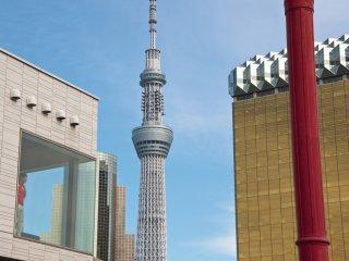 Tokyo Skytree from Asakusa pier