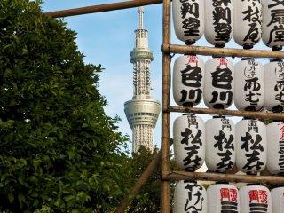 Tokyo Skytree from Sensō-ji Temple