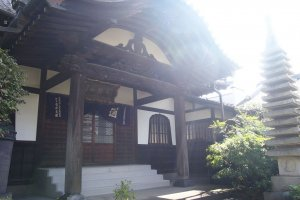 The exterior of the main shrine building. Not open to public.