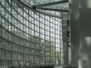 The large open expanse of the buildings Atrium is incredible at Tokyo International Forum near Yurakucho Station