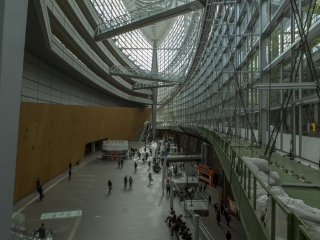 The size at Tokyo International Forum near Yurakucho Station is breath taking