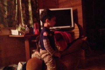 A horseback ride before bedtime