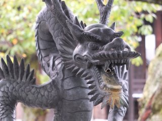 Another dragon; this one at the water basin