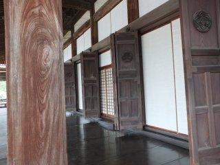 The wide, wooden veranda
