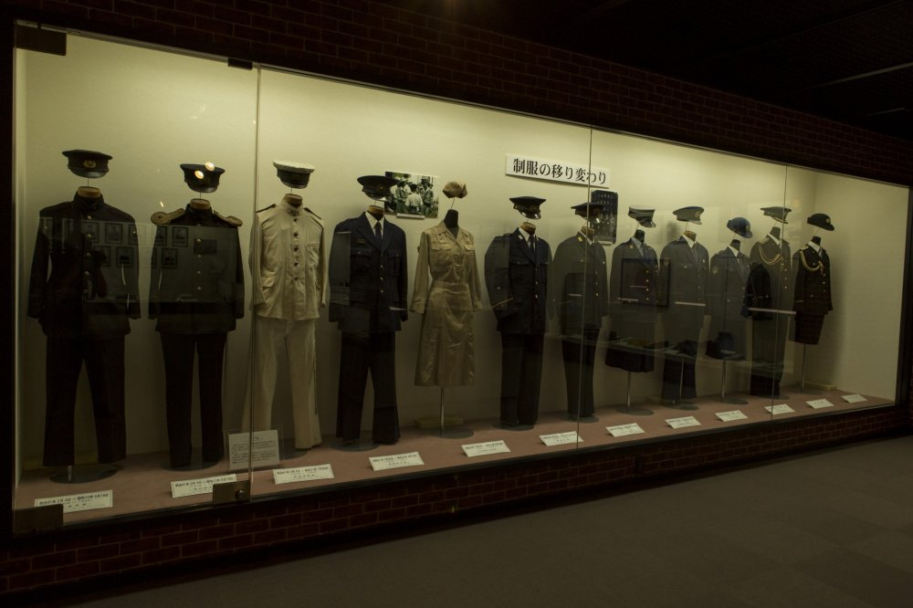 The evolution of uniforms of the year from both male and female officers