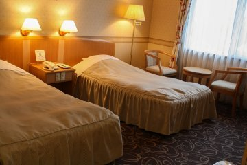 Twin rooms with ample space