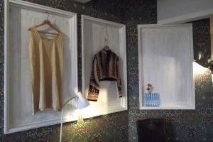 Fashion and stuff adorning the walls