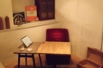 <p>Another corner to sit in, with Penguin classic and box</p>