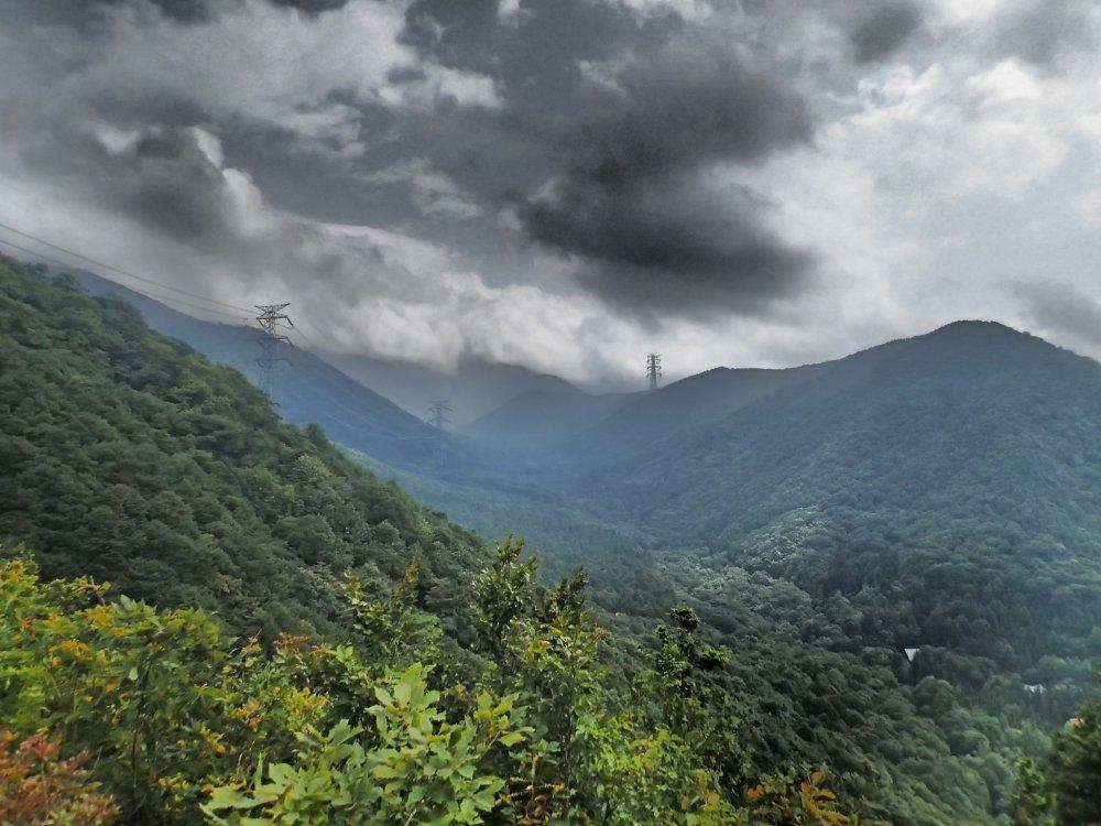 Looing up toward the peak