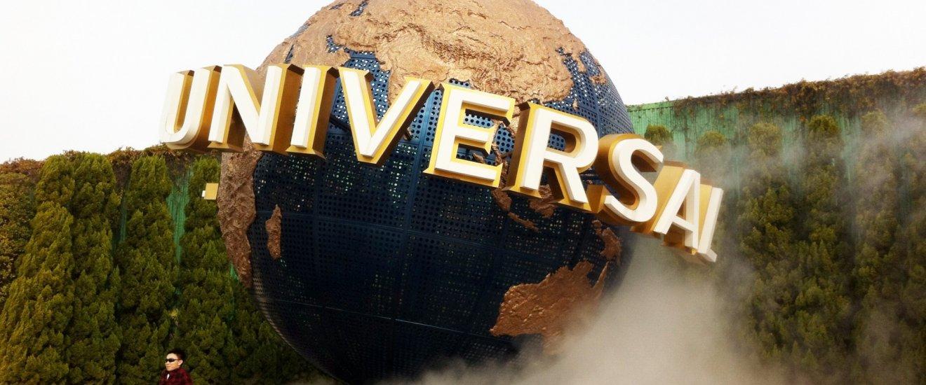 The Universal Globe at the main entrance of Univeral Studios Japan in Osaka