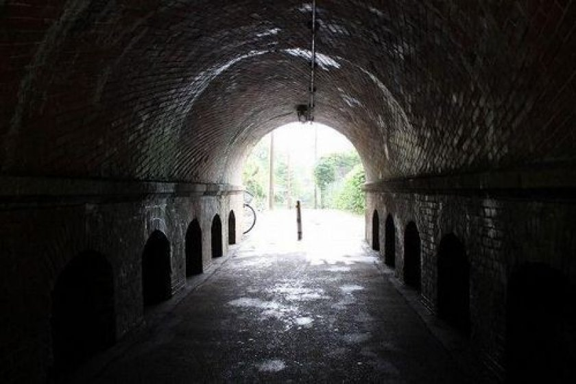 Go through this tunnel, and you'll enter the site of the incline