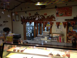 The shop isn't terribly big but has many freshly baked items on display at any time