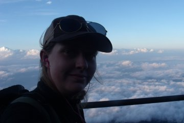 We reached 3300m. This was the view above the clouds.