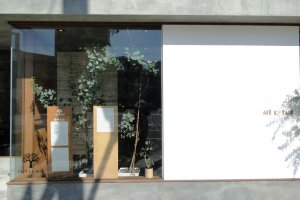 The exterior of Cafe La Paix