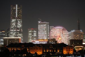 Starting point from Osanbashi Pier, across from the Yokohama Red Brick Warehouse