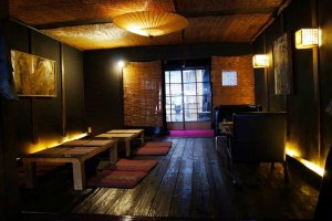 Chic yet calming interior of the Shishin Cafe
