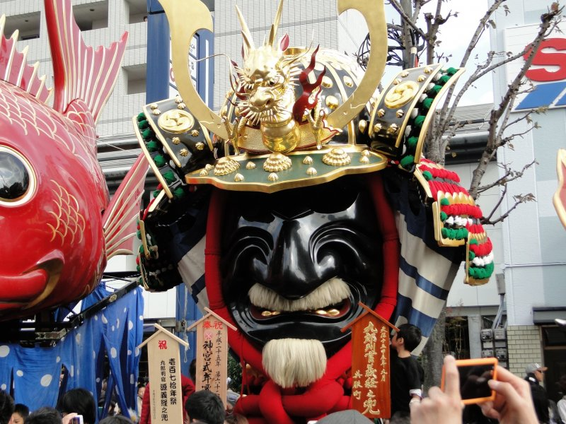 A float from the Karatsu Kunchi festival