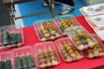 Dango - very popular food sold across Japan