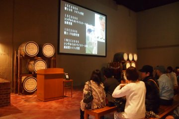 <p>The Hakushu Distillery was set up in 1973, so for its 40th anniversary this year, there was a special video playing at the start of the guided tour.</p>