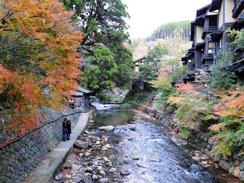 The most photographed view in Kurokawa Onsen