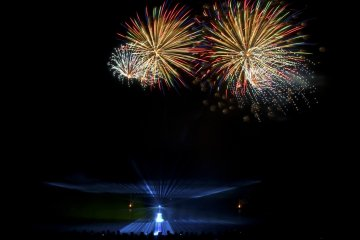 Fireworks Display at Huis Ten Bosch