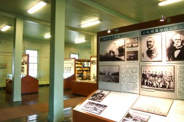 The exhibition space is not big but the authenticity of the building transports one back into time.