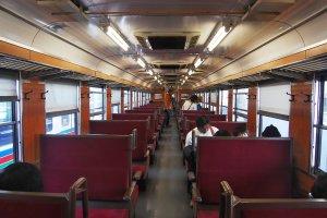 The interior of the locomotive