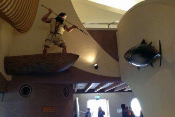 Look who's fishing at the Okumatsushima Jomon Village Museum