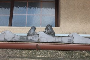 On this eaves there were two Shoki figures!