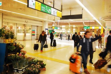 Busy station in Kumagaya